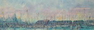 View from Gunwharf Quay, Dusk - ADAMS, Linda