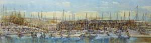 View from Gunwharf Quay, Midday - ADAMS, Linda
