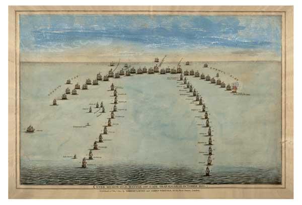 Battle of Trafalgar Plan - UNKNOWN ARTIST
