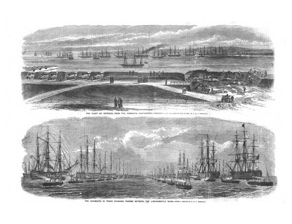 Fleet at Spithead and Gunboats 1856 - UNKNOWN ARTIST