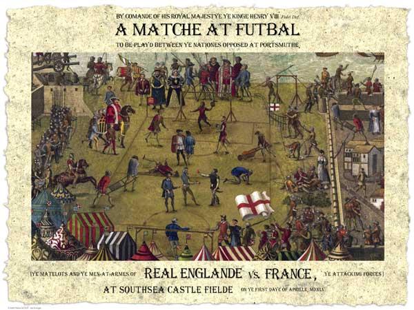 Historic Tudor Football Poster �  April 1, 1545 - UNKNOWN ARTIST
