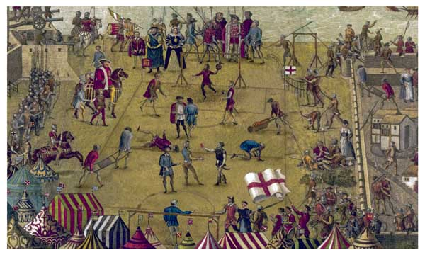 Historic Tudor Football Painting �  April 1, 1545 - UNKNOWN ARTIST
