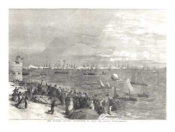 Her Majesty leaves Portsmouth to visit Baltic Fleet - UNKNOWN ARTIST