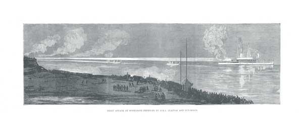 Night Attack on Submarine Defences by HMS Glatton and Gun Boats - UNKNOWN ARTIST