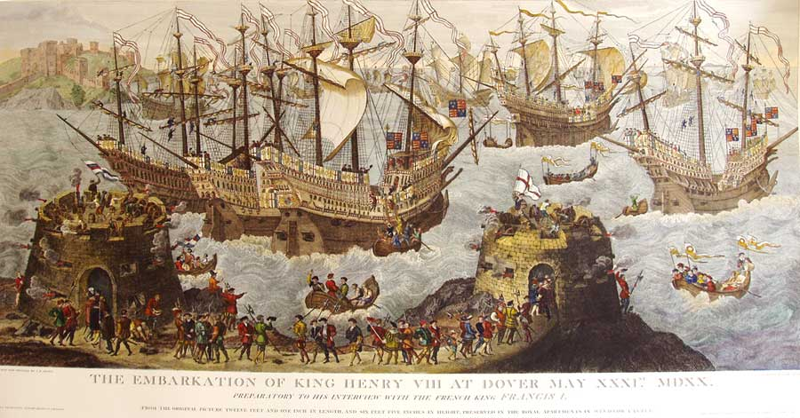 The Embarkation of Henry VIII at Dover - PRINT - UNKNOWN ARTIST