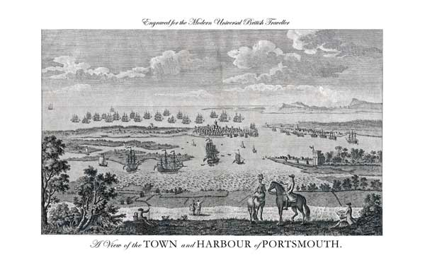 A View of the Town and Harbour of Portsmouth - UNKNOWN ARTIST