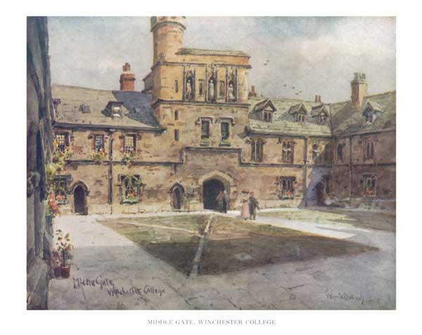 Middle Gate, Winchester College - BALL, Wilfred Williams