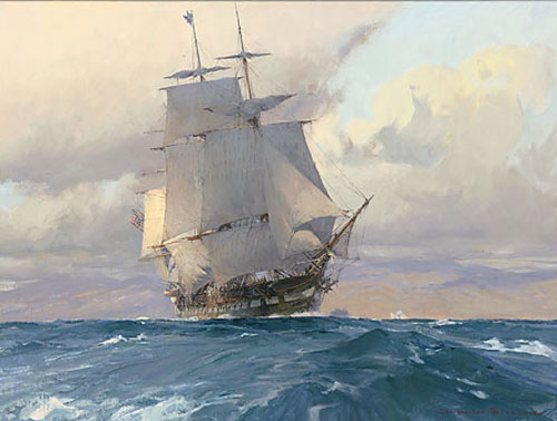 US Frigate Congress on the California Coast - BLOSSOM, Christopher