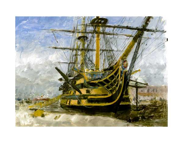 HMS Victory - PRINT - BOND, Julian