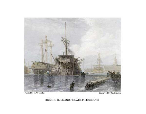Rigging Hulk and Frigate, Portsmouth - COOKE, Edward William