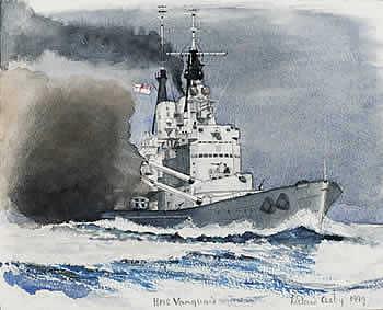HMS Vanguard off Malta, 1949 - COSBY, Richard