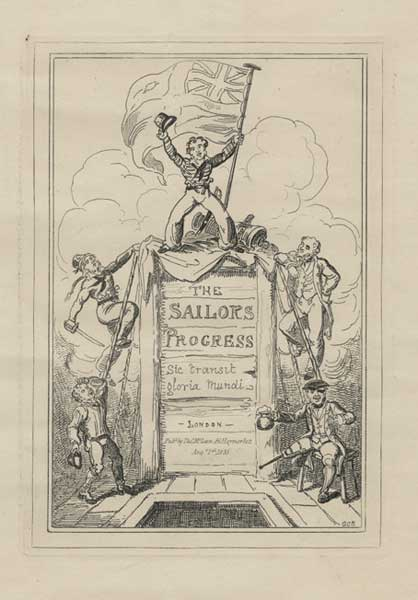 Frontispiece to The Sailors Progress series - CRUIKSHANK, George