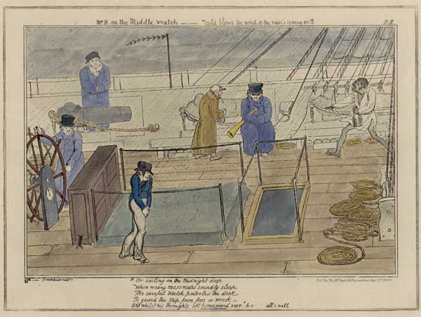 No. 3 Mr B. on the Middle Watch - CRUIKSHANK, George