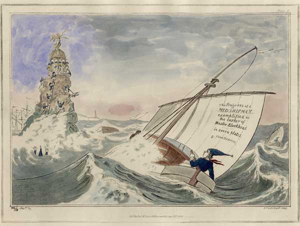 No. 8 The Progress of a Midshipman - CRUIKSHANK, George