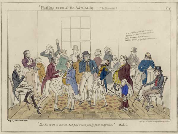 No. 6 Waiting Room at the Admiralty - CRUIKSHANK, George