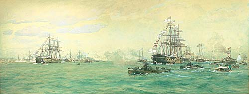 Fleet Review 1887 - The Golden Jubille Review of Queen Victoria - DE MARTINO, Eduardo