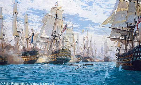 The Battle of Trafalgar - CANVAS - DEWS, Steven