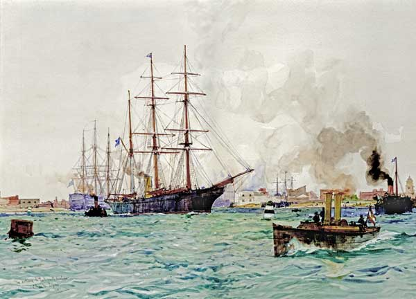 Entrance to Portsmouth Harbour - DIXON, Charles