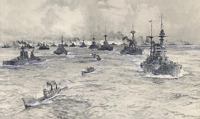 Fleet Review 1919 - A post WW1 assembly in the Thames - DIXON, Charles