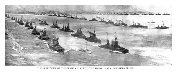 Surrender of the German Fleet 1918 - DIXON, Charles