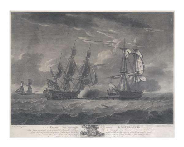 HMS Pearl capturing l'Esperance, 1780 - DODD, Robert