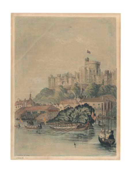 The Fourth of June on the Thames at Windsor Castle - DOLBY, J.