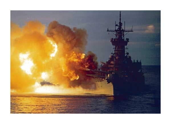 Atlantic Power, USS New Jersey from Ark Royal - PRINT - DUNLOP, Peter
