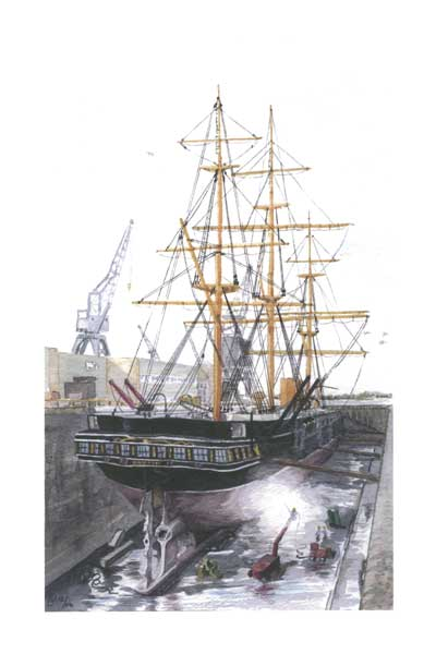 HMS Warrior in Dry Dock - FERRY, Robert