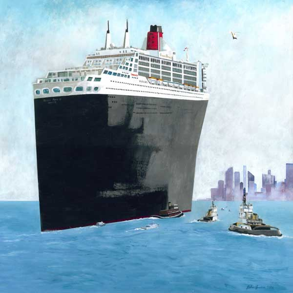 Queen Mary 2 in New York Harbour - PRINT - GREEN, John