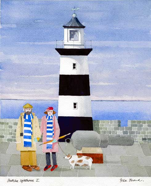 Southsea Castle Lighthouse Study 2: The Pompey Dog Walkers - HEARD, Peter
