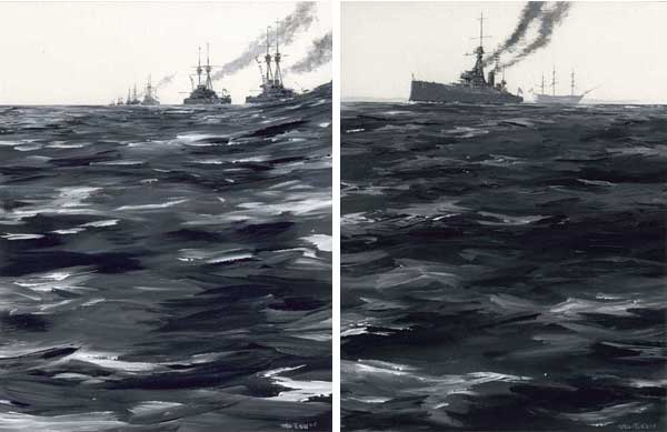 HMS Dreadnought & Dreadnoughts - Pair - HILL, Peter