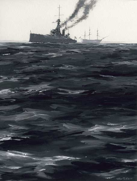 HMS Dreadnought - PRINT - HILL, Peter
