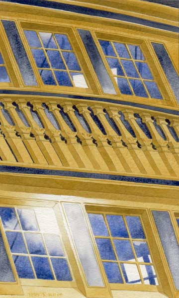 Stern Windows of HMS Victory [by Peter Hill] - PRINT - HILL, Peter
