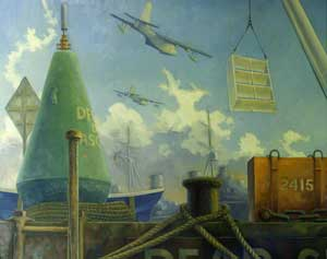 Marine Assemblage with Sunderland and Otter - HUGHES, Nigel