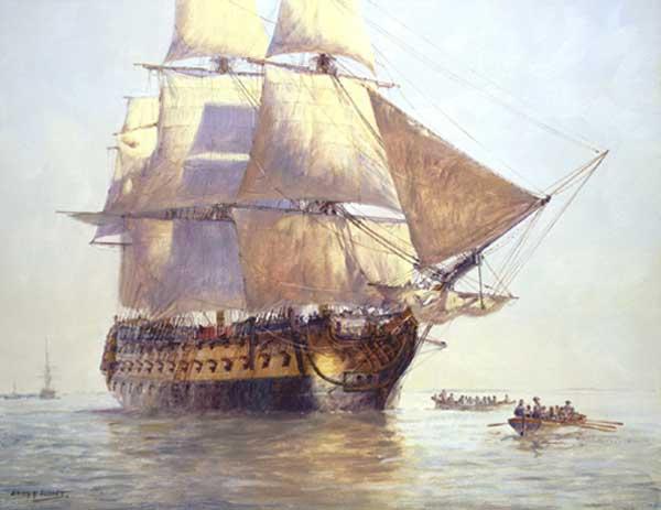 HMS Temeraire - HUNT, Geoff