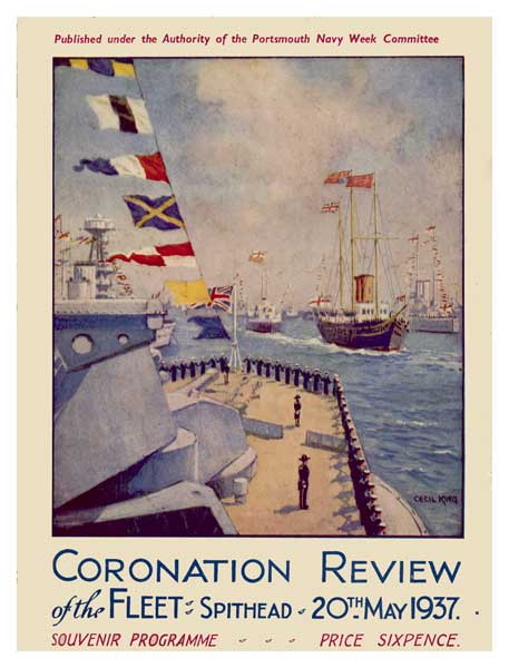 Coronation Review Programme 1937 - KING, Cecil