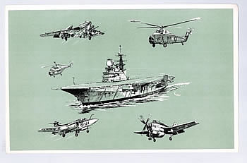 HMS Hermes with Vignettes of Embarked Squadrons - KNOLLYS, Hugh