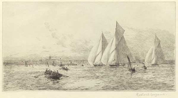 The Big Class Racing Off Ryde, Isle of Wight - LANGMAID, Rowland