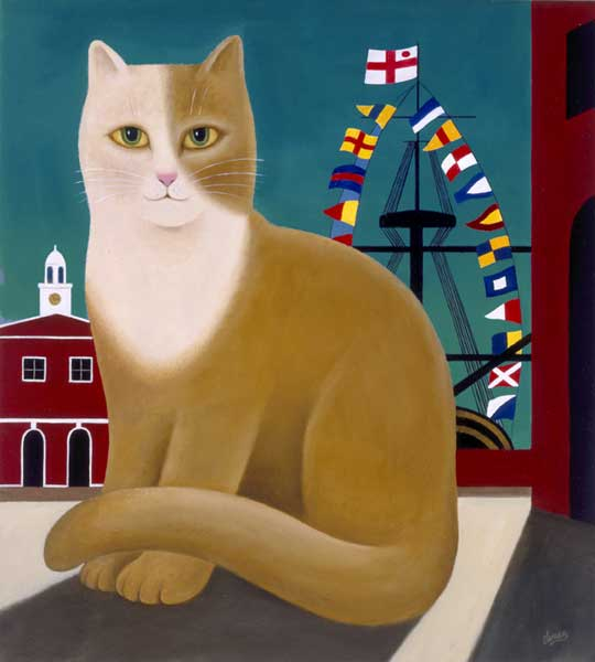 Horatio the Dockyard Cat - SMALL PRINT - LEMAN, Martin