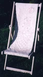 Mermaid Deckchair - LIPSCOMBE, Heather