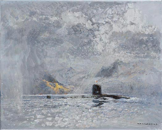 A Nuclear Submarine (SSN) Off Holy Island - MACDONALD, Roderick