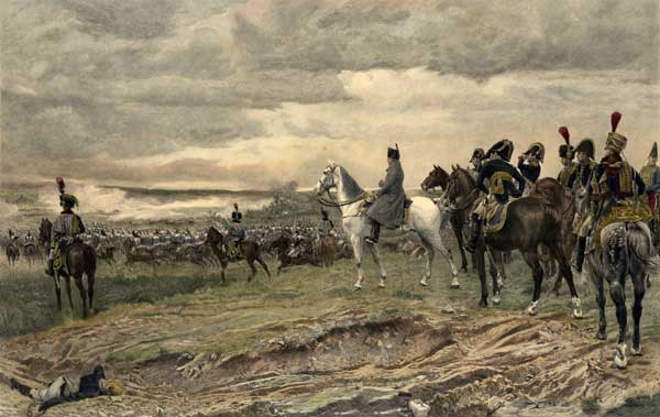 Napoleon Bonaparte Overlooking the Field of Waterloo - PRINT - MEISSONIER, Jean Louis Ernest