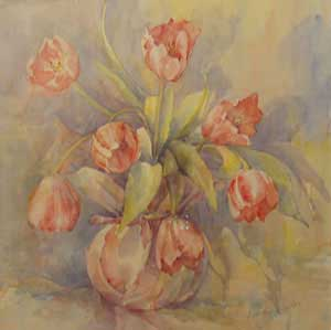 Pink Tulips - MILLER, Rosemary