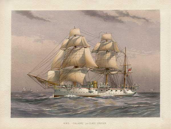 HMS Calliope - MITCHELL, W.F.