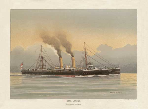 HMS Latona - MITCHELL, W.F.