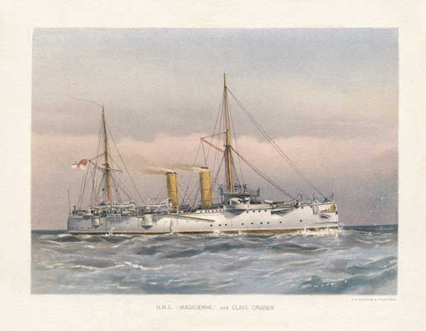 HMS Magicienne 2nd Class Cruiser - MITCHELL, W.F.