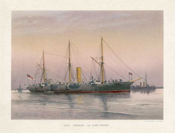 HMS Mohawk 3rd Class Cruiser - MITCHELL, W.F.