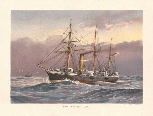 HMS Nymphe - MITCHELL, W.F.