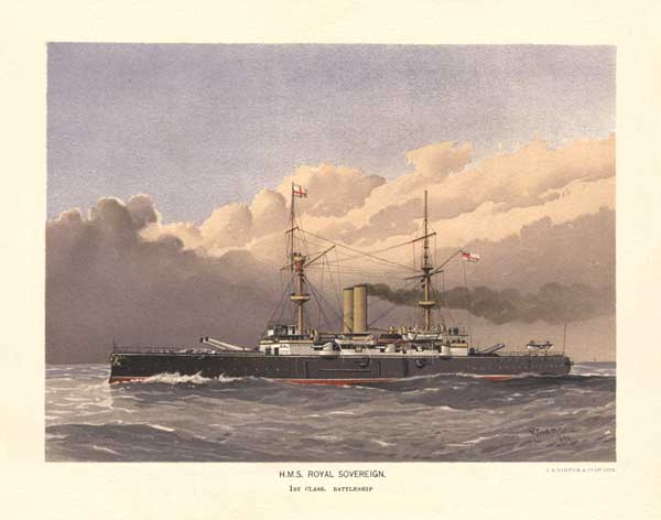 HMS Royal Sovereign - MITCHELL, W.F.