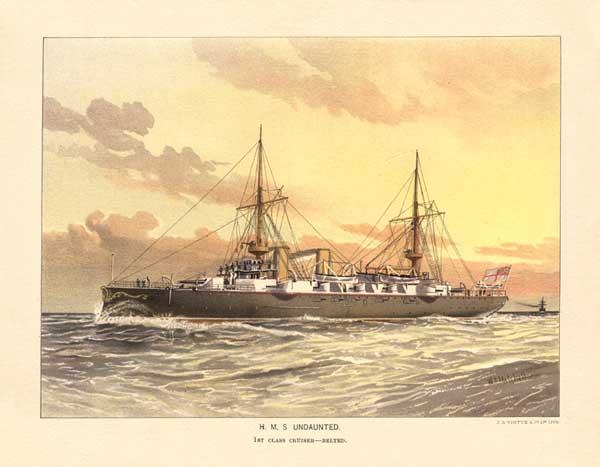 HMS Undaunted - MITCHELL, W.F.